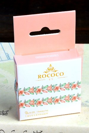 Photo1: Kawaii Washi Masking Tape - ROCOCO Series - Lilly Flowers