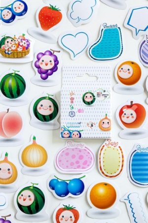 Photo1: kawaii Planner Paper Label Sticker Box - Fruits Paradise