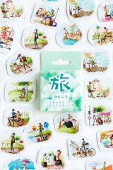 kawaii Planner Paper Label Sticker Box - Travel with you