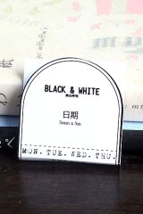 SALE - Black White Planner Slim Masking Tape - week date