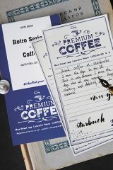 Cute Message Notes Book Memo - Vintage Style - Coffee