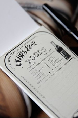 Photo1: Cute Message Notes Book Memo - Vintage Style - Food