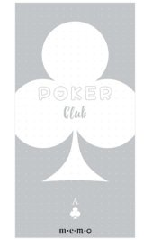 Cute Message Notes Book Memo - poker - club