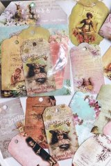 Vintage Style Hemp Tag Card Set - Romantic Country
