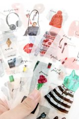 cute Planner Drawing Sticker Set - Dressing Up