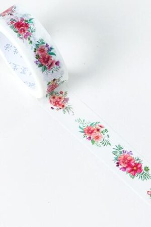 Photo1: Kawaii Washi Masking Tape - Secret Field - Flower Aroma
