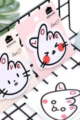 Kawaii Sticky Notes Memo - Heart Cat