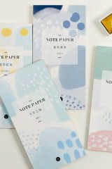 Cute Message Notes Book Memo - colorful patterns