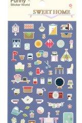 Kawaii Korean Funny Sticker Set - Sweet Home