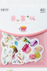SALE - Kawaii Collage Sticker Sack Flake - Fairy Tale - Gourmet Party