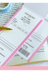 Cute Message Notes Book Memo - cash receipt