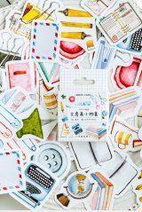 SALE - Cute Lovely Paper Label Sticker Box -  stationery collection