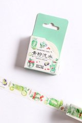 Kawaii Washi Masking Tape - Forest Party - Green Lime Soda