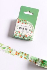 Kawaii Washi Masking Tape - Forest Party - plum