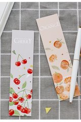 Kawaii Paper Bookmarks - Hi fruits