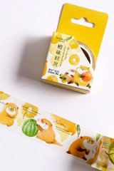 Kawaii Washi Masking Tape - Forest Party - orange time
