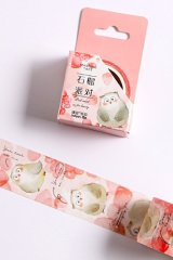 Kawaii Washi Masking Tape - Forest Party - pomegranate party