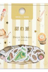 SALE - Kawaii Gilding Collage Sticker Sack Flake - Sweet Party