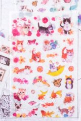 Kawaii Planner Stickers Set - Japanese Style Patterns Cat