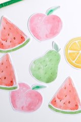 Kawaii Sticky Notes Memo - colorful fruits