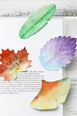 Kawaii Sticky Notes Memo - colorful leaves