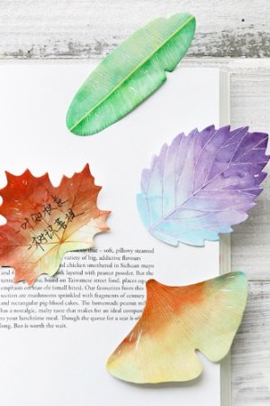 Photo1: Kawaii Sticky Notes Memo - colorful leaves