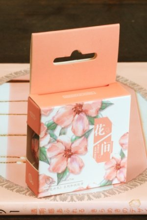 Photo1: Kawaii Washi Masking Tape - Flower Blossom