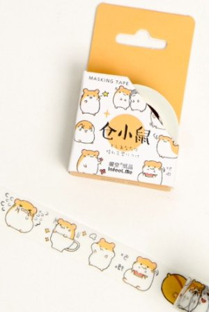 Photo1: Kawaii Washi Masking Tape - Dango - Hamster