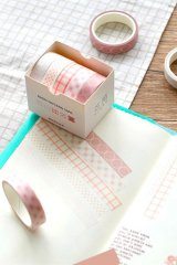 Kawaii Washi Bujo Planner Masking Tape - Basic Patterns  - Cherry Blossoms