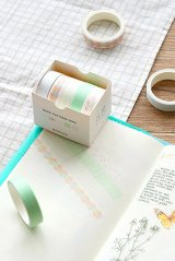 Kawaii Washi Bujo Planner Masking Tape - Basic Patterns  - Cloud Shadow