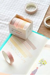 Kawaii Washi Bujo Planner Masking Tape - Basic Patterns  - Autumn Leaves