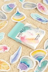 Lovely Planner Paper Label Sticker Box - feather