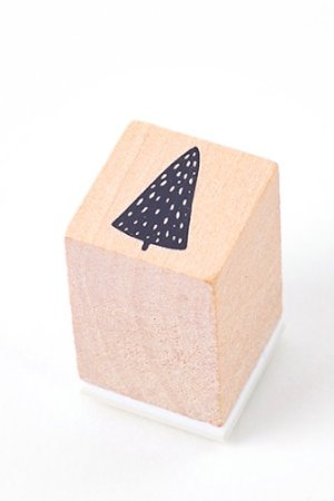 Photo1: Lovely Wooden Rubber Stamp - Little Forest - Pine