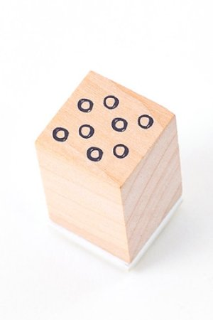 Photo1: Lovely Wooden Rubber Stamp - Little Forest - Dot