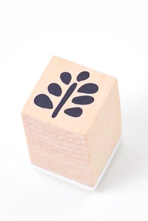 Photo1: Lovely Wooden Rubber Stamp - Little Forest - Branch