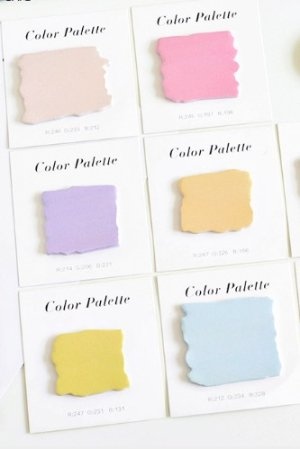 Photo1: Colorful Sticky Note Memo - pure color