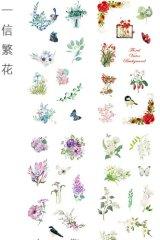 Kawaii Planner Stickers Set - Fresh Water Cartoon - Floral Mail