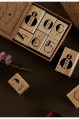 Lovely Wooden Rubber Stamp - Bujo Planner - Number