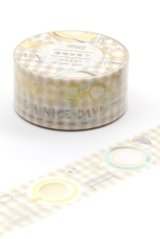 Kawaii Washi Masking Tape - Good Time - Coffee