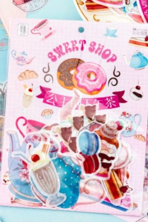 Photo1: Kawaii Washi Planner Paper Seal Sticker Sack - Wizard OZ - Prince Afternoon Tea