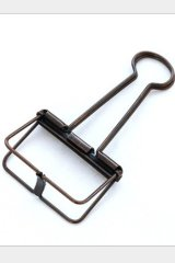 Super Cute Steel Binder Clips - Bronze