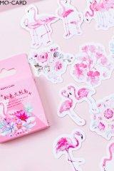 Lovely Planner Paper Label Sticker Box - Flamingo