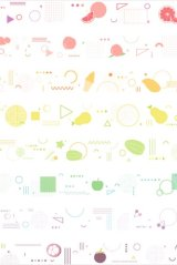 Kawaii Washi Masking Tape - Dream - Fruits Geometry