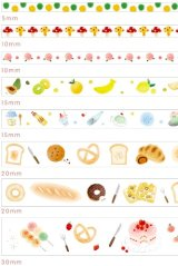 Kawaii Washi Masking Tape Set - Floral World - Eat 02