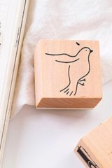 Lovely Wooden Rubber Stamp - Salt - Bird