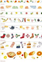 Kawaii Washi Masking Tape Set - Floral World - Daily Life