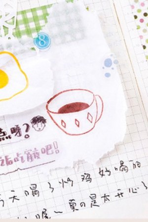 Photo2: Lovely Wooden Rubber Stamp - Salt - Coffee