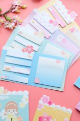 Message Notes Paper Memo - cherry blossom animal