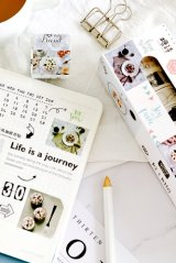Kawaii Washi Masking Tape Set - Natural Time - Nordic