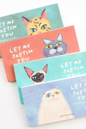 Photo1: new Kawaii Monthly Planner Note Book - Cat